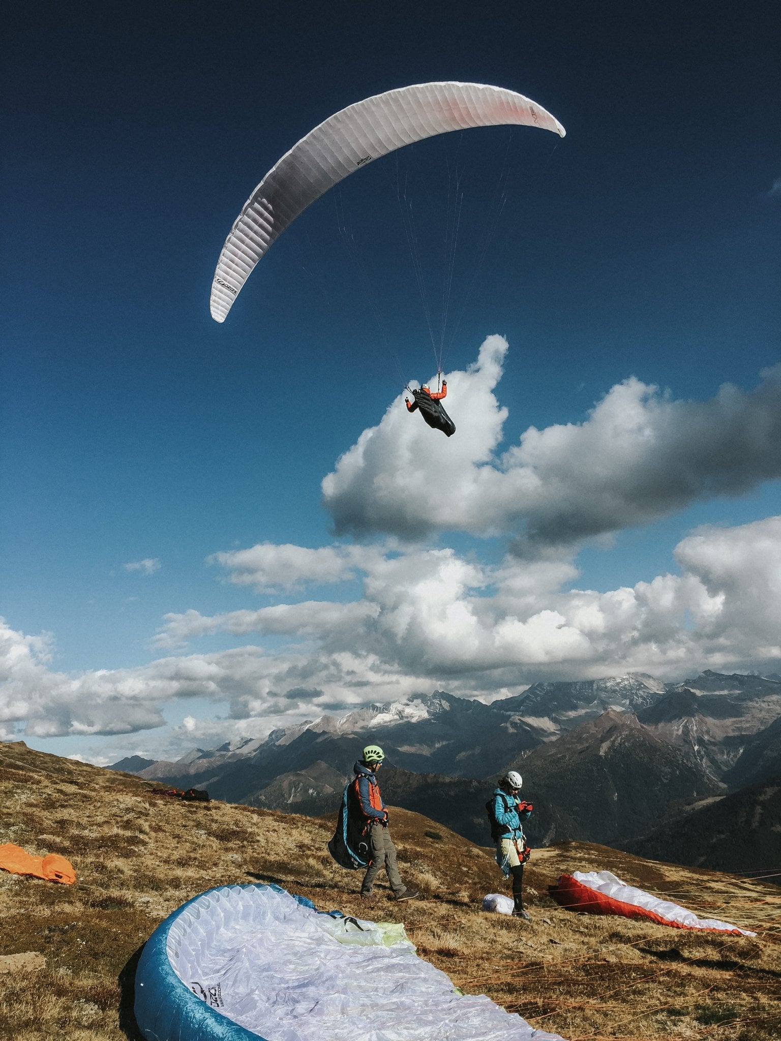 Paragleiter, Alps, Austria, Tirol, Blitzkneisser, Preset,